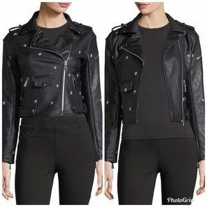 Free Generation NEW Faux Leather Moto Jacket